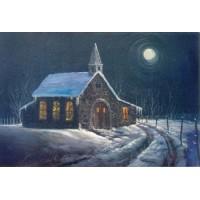 8870 CHURCH IN MOONLIGHT